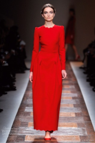 valentino-fall-2012-long-sleeve-red-dress