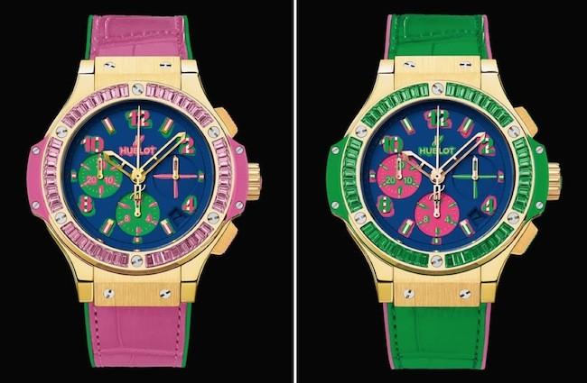 Luxuryretail_hublot-big-bang-pop-art-pink-green