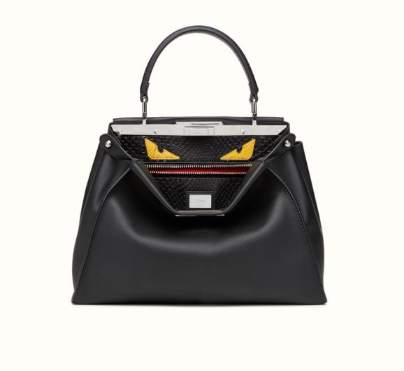 2016 0424 Fendi Peekaboo Monster Leather & Python Bag .png